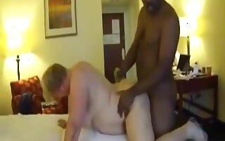 BBW grannies sharing big black cock in nasty interracial threesome